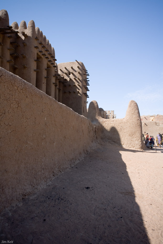 Side entrance to the mud mosque in Djenne