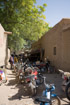 A motorbike shop in an alleyway in Djenne
