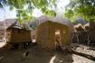 Raised granaries in a remote Dogon village
