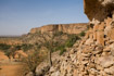 Looking west along the Bandiagara cliffs